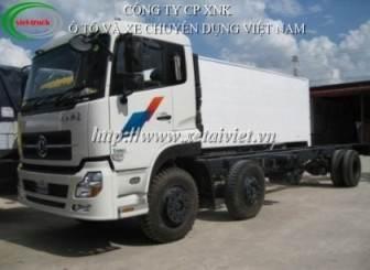 xe tải dongfeng 3 chân, 2 dí 1 cầu, động cơ cumin B210, tiêu chuẩn khí thải Eurro3