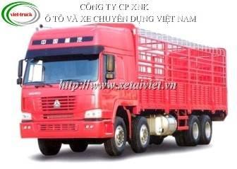 Xe tai howo 4 chân 336 HP, xe tải thùng Howo 4 chan 336, Xe tải howo 336 Hp