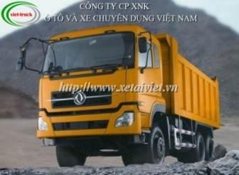 xe ben dongfeng l300 3 chân 10 tấn - 14 tấn nhập khẩu