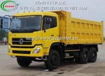 Xe ben DongFeng L375 3 chân 13 tấn - 15 tấn ben đầu thùng vuông thùng 20,3 khối, xe tải ben dongfeng 3 chân
