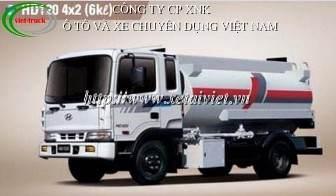 xe cho xang dau 6 khoi, ban  Xe téc, xe xitec, xe bồn chở xăng dầu Hyundai 6 khối HD120