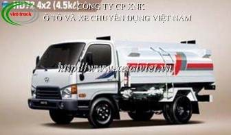 xe cho xang dau 4,5 khoi, Bán Xe téc, xe xitec, xe bồn chở xăng dầu Hyundai 4,5 khối HD72