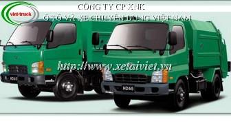 Xe ep rac 4 khoi hyundai, ban xe ep rac Hyundai 4 khoi HD65, xe ép chở rác 4 khối,  bán xe cuốn ép rác Hyundai 4 khối, ep rác 4m3, ép rác Hyundai 4m3 nhập khẩu
