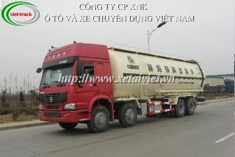 Xe chở xi măng rời 41 khối Howo, xe bồn, bán xe tải, bán xe ô tô tải