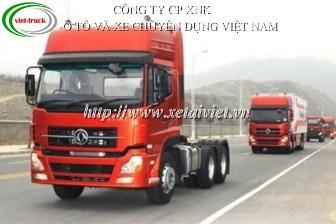 xe đầu kéo dongfeng L375 3 chân, xe ô tô đầu kéo dongfeng, bán xe tải