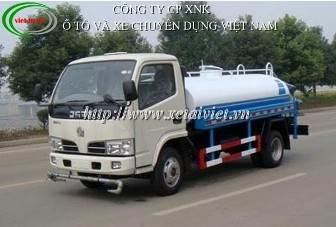 xe phun nước rửa đường dongfeng 4 khối, xe rửa đường dongfeng 4m3, xe xitec phun nuoc rua duong dongfeng, bán xe tải, bán xe ô tô tải