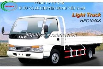 Xe tải jac 2,5 tấn HFC1044K - D3850 2500kg
