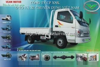 xe tải thùng veam 990kg rabbit thùng lửng, thùng bạt, thùng kín, satxi