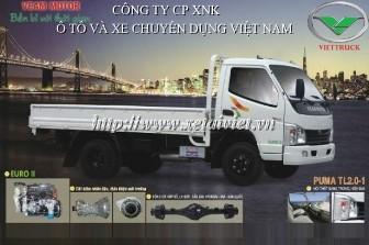 xe tải thùng veam 2 tấn Puma 2T thùng lửng, thùng kín, thùng khung mui phủ bạt, xe satxi puma 2t