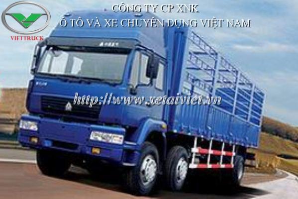 xe tải howo 2 dí 1 cầu, bán xe tải howo  ZZ1201H60C5W tại hà nội