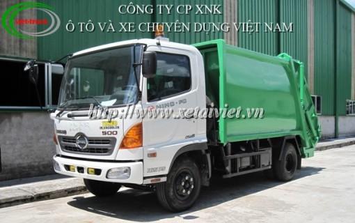 bán xe ép rác hino 9m3 đóng trên xe cơ sở xe tải hino FC9JESA-TL