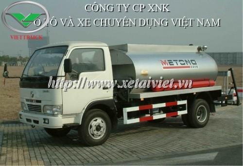 mặt trước xe phun rải nhựa đường dongfeng 3m3