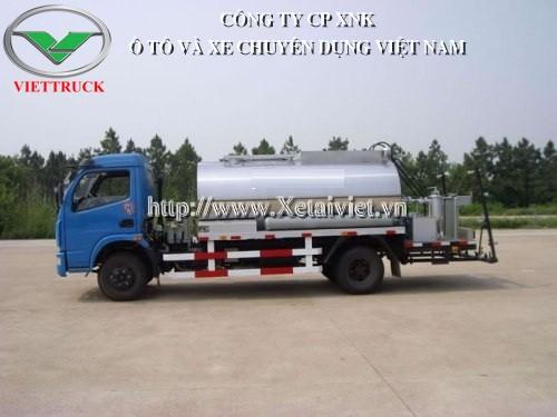 xe phun rải nhựa đường 5 khối dongfeng LMT5090GLQ chuyên vận chuyển, phun tưới nhựa đường phục vụ các công trình xây dựng, cải tạo làm mới đường xá