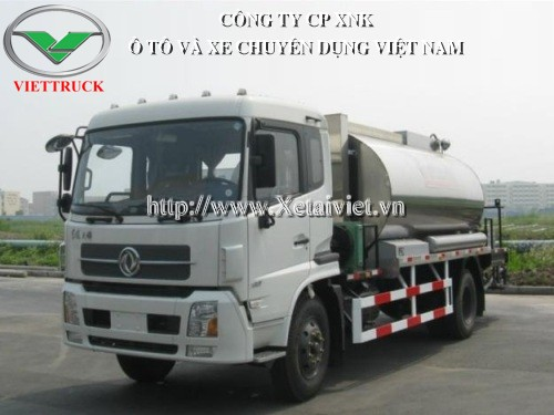 xe phun rải nhựa đường 8 khối dongfeng LMT5162GLQ loại lơn chuyên vận chuyển, phun tưới nhựa đường phục vụ các công trình xây dựng, cải tạo làm mới đường xá