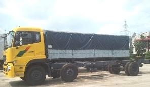 xe tải thùng dongfeng 2 dí 1 cầu động cơ 230 HP