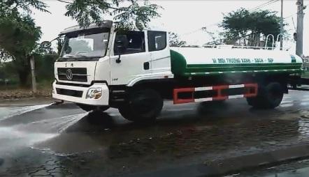 xe phun nước rửa đường dongfeng 9 khối, xe rửa đường dongfeng 9m3, xe xitec phun nuoc rua duong dongfeng 9 khoi