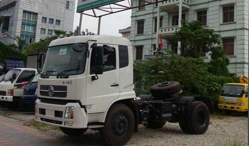 xe đầu kéo dongfeng 1 cầu động cơ yuchai 260 2 chân, xe ô tô đầu kéo dongfeng