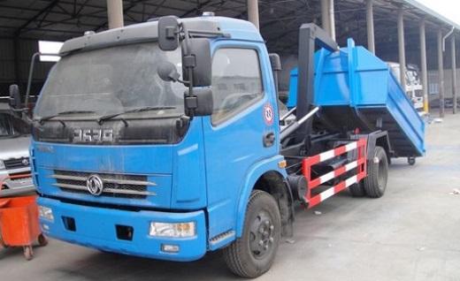 xe chở rác thùng rời dongfeng 5 khối nhập khẩu tổng tải trọng 9.4 tấn