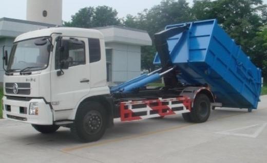 xe chở rác thùng rời đóng trên nền xe tải