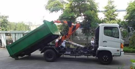 xe cho rac thung roi hooklift hino fc