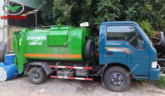 xe ép chở rác kia frontier dung tích thùng chứa rác 2.5 khối