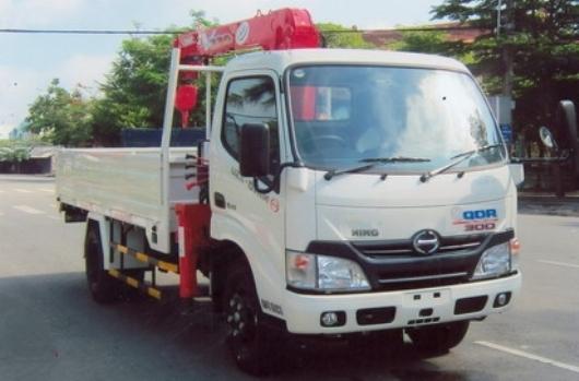 xe tải hino gắn cẩu unic 2 tấn 2 đốt
