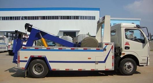 xe cứu hộ 3,5 tấn dongfeng càng kéo mầu trắng