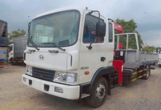xe tải hyundai hd120 gắn cẩu