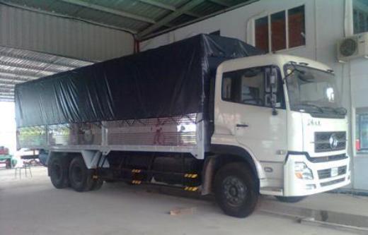 xe tải thùng khung mui phủ bạt dongfeng 3 chân