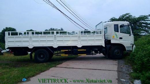 xe tải thùng lửng dongfeng 9 tấn nhập khẩu màu trắng