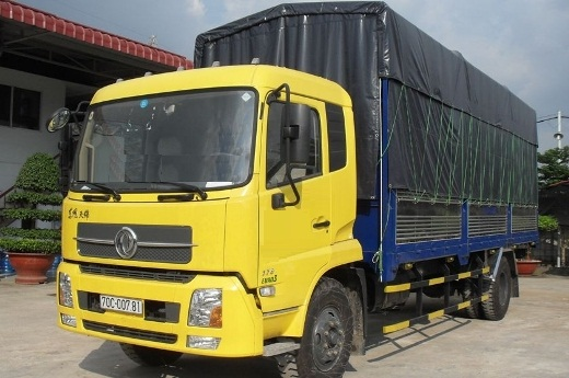 xe tải thùng khung mui phủ bạt