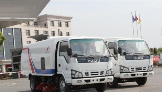 xe quét hút rác isuzu 5 khối viettruck nhập khẩu
