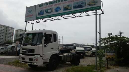 hình ảnh xe đầu kéo dongfeng 1 cầu do viettruck nhập khẩu
