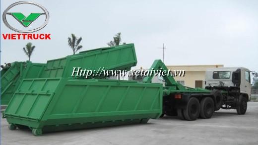 thung chua rac thai xe hooklift hino fm 18 khoi