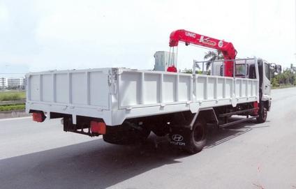 xe tải gắn cẩu 6 tấn hino fc lắp cẩu unic 3 tấn 3 đốt URV 343