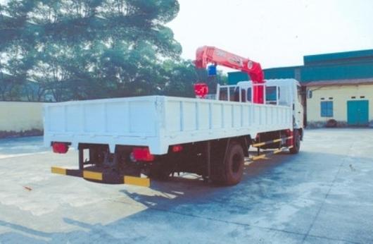 xe tải lắp cẩu unic 3 tấn 5 đốt trên nền xe hino FC 6 tấn 4