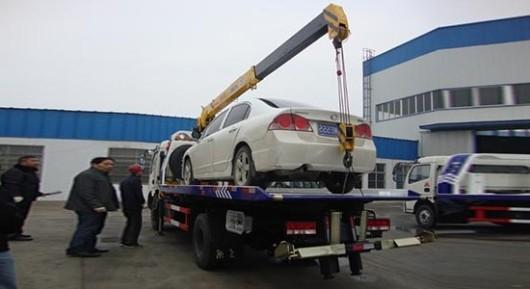 xe cứu hộ sàn dongfeng 3,5 tấn gắn cẩu