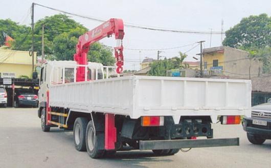 xe tải hyundai hd210 lắp cẩu unic 5 tấn