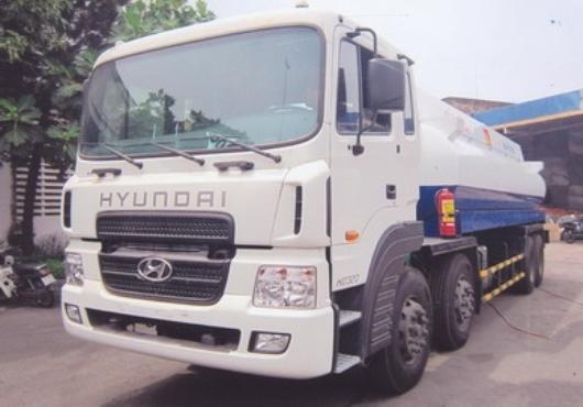xe hyundai hd320 đóng xe chở xăng dầu