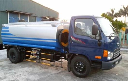 xe téc chở xăng dầu 7,5 khối hyundai hd700 đồng vàng