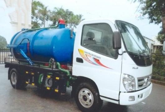 xe thaco ollin w500b đóng xe hút chất thải