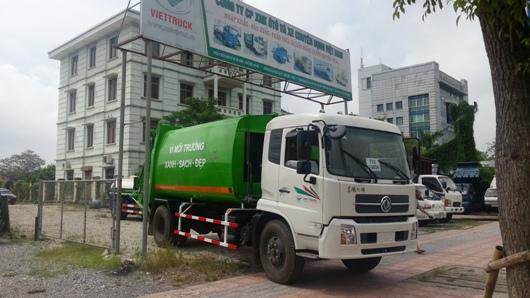 xe b190 đóng ép chở rác 14 khối