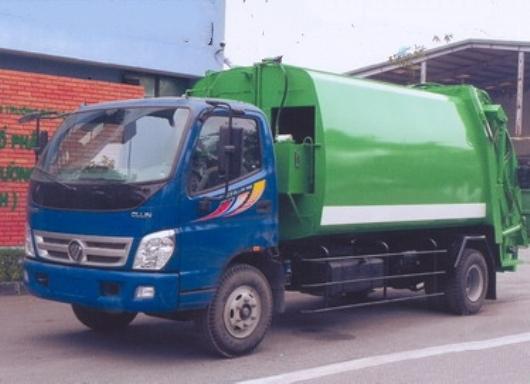 xe ép rác 9 khối thaco sử dụng càng gắp đa năng