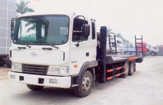 xe hyundai hd210 cho may cong trinh