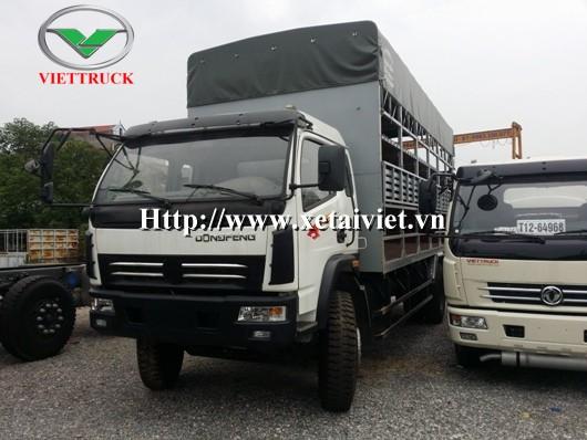 xe tải dongfeng 7 tan dong thung cho xe may 2 tang