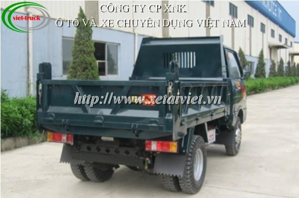 hình ảnh xe tải ben forcia 950kg nhìn phía sau