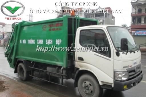 xe ép rác hino 6 khối lắp ráp WU342L HKMRHD3